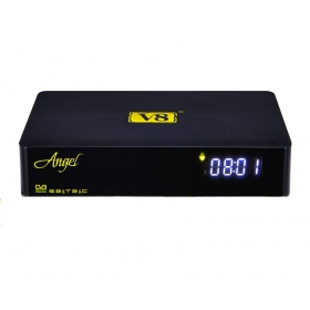 V8 Angel android hybrid tv box with Tuner DVB-S2 T2/C android 4.4 1GB 8GB android box m8s