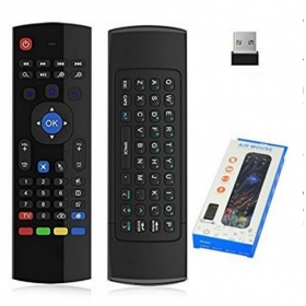 MXIII Double sided Mouse Remote Control 2.4ghz Mini Wireless Air Mouse+Qwert Keyboard no Voice Switch and Infrared for Kodi TV Box IPTV HTPC Mini PC Windows Mac OS Lilux