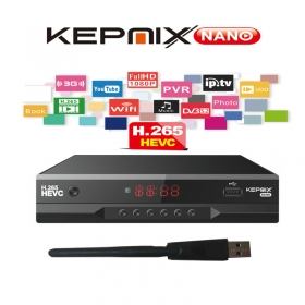 Kepnix nano h.265 iptv m3u stalker iptv xtream DVB-S2 Satellite Receiver Support PowerVu Biss ccam Youtube Wifi usb vs gtmedia v8 nova