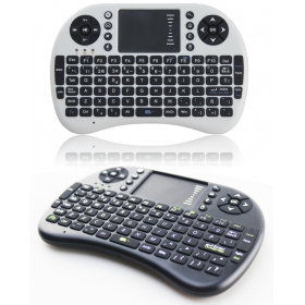 Mini Keyboard I8 Wireless Touchpad for Android TV Box Computer Black